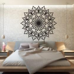 SENTOP Vyřezávaná dřevěná mandala obraz na stěnu z překližky