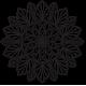 Vyřezávaný květ mandala dřevěný obraz na stěnu z překližky kvet