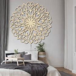 Vyřezávaná mandala květ dřevěný obraz na stěnu z překližky