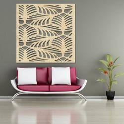 Vyřezávaný Dřevěný obraz na stěnu z překližky kvádr