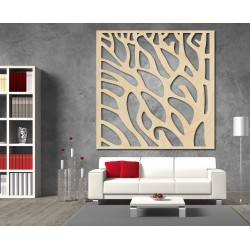 Vyřezávaný obraz na stenuz dřevěné překližky STROM