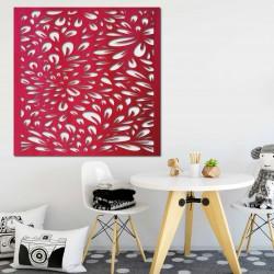 Vyřezávaný obraz na stěnu z dřevěné překližky květ HORLILG