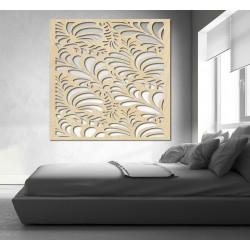 Vyřezávaný obraz na stěnu z dřevěné překližky květ LUPENE