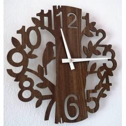 Dřevěné nástěnné hodiny příroda z HDF Hořice