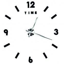 Moderní nástěnné hodiny alitek. Nálepka na zeď barva černá TATKO