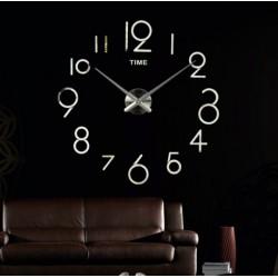 Velké nástěnné hodiny alibaba. Nálepka na zeď, zrcadlové.