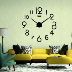 Moderní nástěnné hodiny barva černá ALENKA