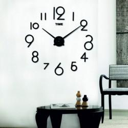 Nástěnné hodiny do obýváku Barva černá ELIŠKA XXL