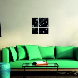 Moderní nástěnné hodiny čtvereček barva černá BARBORA