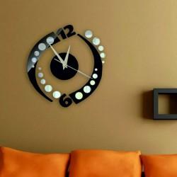 Nalepovací hodiny na stěnu kulička barva černá AAHOJAL