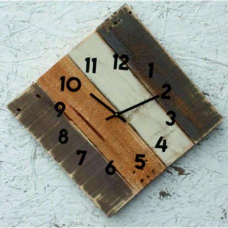 Moderní nalepovací hodiny zrcadlový půlkruh.