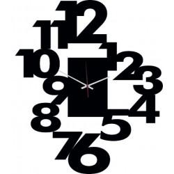 Moderní nalepovací nástěnné zrcadlové hodiny na stěnu černé konec výroby- vyřazeny z výroby- nevyrábí se