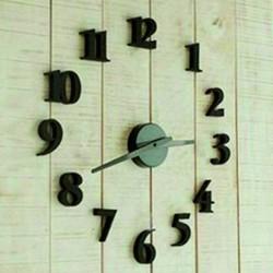 Moderní nalepovací hodiny číselko černé.