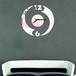Moderní nalepovací hodiny půlkruh, zrcadlové OMNIKO