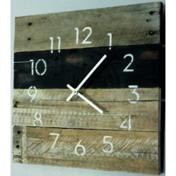 Dřevěné hodiny vstávej už je ráno STROM