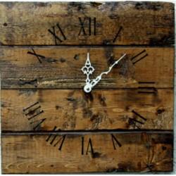 STYLESA  Dřevěné hodiny na stěnu 12D40106 PALISER hnědé