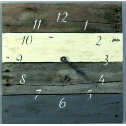 SENTOP Dřevěné hodiny na chalupu D40135 šedé