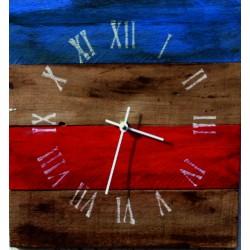 XMOMO Hodiny ze dřeva D1011 DOFEERT červené
