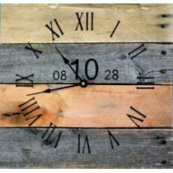 Dřevěné hodiny nástěnné číslo deset.