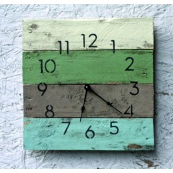 Dřevěné hodiny, já mám čas na všechno.