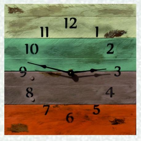 Dřevěné hodiny na stěnu, hodiny ze dřeva, velké hodiny