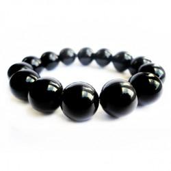 Náramek na ruku - Onyx černý - FI 14 mm