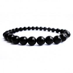Náramek na ruku - Onyx černý - FI 4 mm