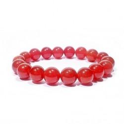 Náramek na ruku - Onyx červený - FI 10 mm
