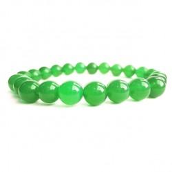 Náramek na ruku - Onyx zelený - FI 8 mm