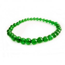 Náramek na ruku - Onyx zelený - FI 6 mm