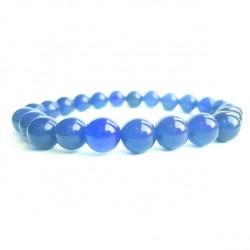 Náramek na ruku - Onyx modrý - FI 8 mm