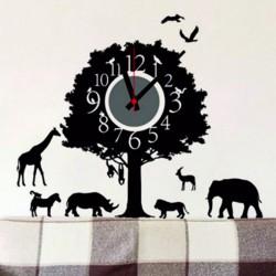 Hodiny nástěnné strom života a zvířata. 3M Folia rozměr 25x90