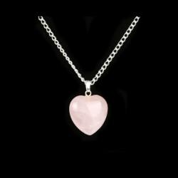 Přívěsek z polodrahokamu - růženín - srdce - WINIE