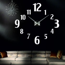 Stylový nalepovací nástěnné hodiny. Zrcadlové hodiny na stěnu, jako dar.