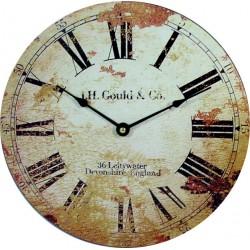 Dřevěné hodiny Retro edice. Materiál: MDF, rozměr: Fi 15 cm ROMANOV